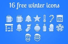 16 Winter Christmas PSD Icons Set - http://www.dawnbrushes.com/16-winter-christmas-psd-icons-set/