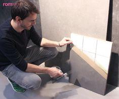 Gir en betongaktig finish og kan brukes rett på vegger, gulv og benkeplater.
