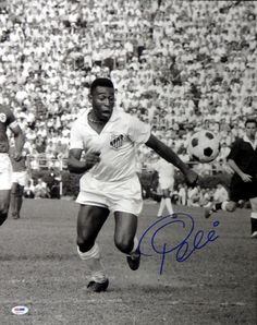 This is a 16x20 Photo that has been hand signed by Pele. It has been authenticated by PSA/DNA and comes with their sticker and matching certificate of authenticity.