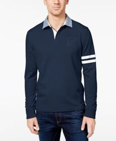TOMMY HILFIGER Tommy Hilfiger Men'S Big &Amp; Tall Richmond Rugby Shirt. #tommyhilfiger #cloth #down shirts