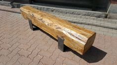 Barn beam bench with steel legs by BarnwoodsDecor on Etsy