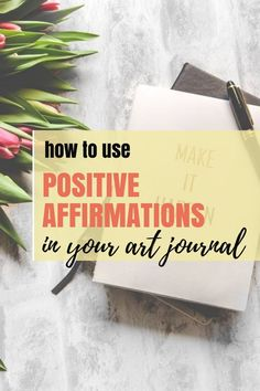 Mindful art journaling has helped me get over creative blocks and grow personally and artistically. Starting my pages with positive affirmations is all it takes to make art and be mindful about it.