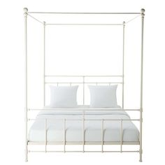 Syracuse - Metal 160 x 200 King Size Four-Poster Bed in White Furniture, Canopy Bed, New Home Wishes, Four Poster Bed, Four Poster, Bed, Full Bed, Bedroom, Spanish Bedroom