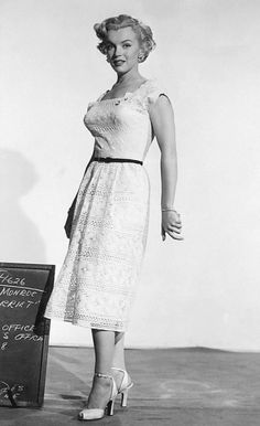 """""""Marilyn Monroe in a costume test for As Young As You Feel. """""""