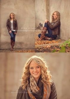 I love the pose in the top right. Just a very feminine position and nice angle Senior Photography Poses, Senior Portraits Girl, Senior Girl Poses, Fashion Photography Poses, Autumn Photography, Portrait Photography, Senior Posing, Senior Session, Photography Ideas