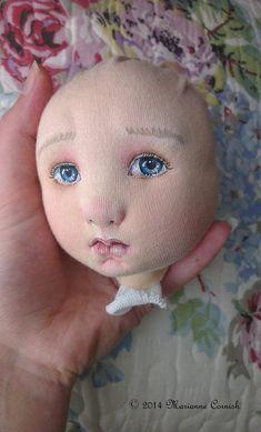 Textile Art Doll (work in progress) by Marianne Cornish