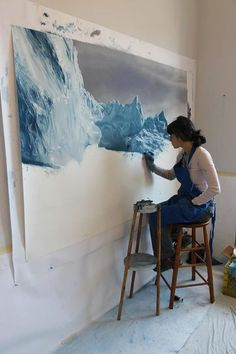 Zaria Forman Landscape drawings using soft pastel on paper.WOOOOOOOOOOOOW