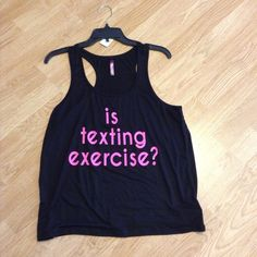 """Workout tank...I think.. Too bad it's not!  24"""" long, 18"""" bust Electric pink Tops Tank Tops"""