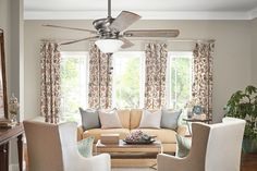 "Living room lighting and ceiling fan. Graystone Collection. 52"" Graystone Ceiling Fan BAP. Kichler."