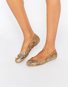 Image 1 ofVivienne Westwood for Melissa Scribble Flat Shoes