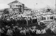 Panama Canal construction workers -   My Grandfather might be in this wonderful photo.