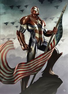 Iron Patriot by Adi Granov. I can't help but notice the flag is WAY too long.
