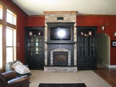 Turn your wasted space around your fireplace into an entertainment center. Call us to help you today!