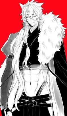 Anime Demon Boy, Hot Anime Boy, Anime Boys, Touken Ranbu, Manga Anime, Anime Art, Video Game Anime, Cartoon Man, Handsome Anime Guys