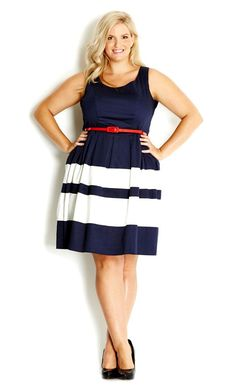 I hardly ever wear dresses but this is cute. City Chic - LAND LOVER DRESS - Women's plus size fashion