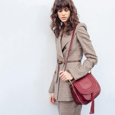 The Hudson bag adds flair: wear it across the body or let it swing along with your spirit http://chloe.com/store