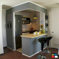 Having limited space in an apartment doesn't mean you don't deserve a nice kitchen. See what a small kitchen design is all about. kitchen ideas A Guide to Efficient Small Kitchen Design for Apartment Compact Kitchen, Home Decor Kitchen, Kitchen Design Small, Kitchen Decor, Small Space Kitchen, Kitchen Remodel Small, Mini Kitchen, Studio Kitchen, Home Kitchens
