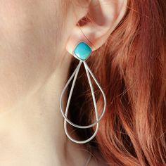 Unique Earrings, Gemstone Earrings, Fashion Earrings, Women's Earrings, Earrings Handmade, Pendant Earrings, Silver Earrings, Trendy Jewelry, Modern Jewelry