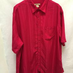 Fabulous sz shirt from Island Passport. The vibrant red with subtle tone-on-tone striped fabric will enhance any outfit. - Red Tone-on-Tone Subtle Striped Fabric. - Chest: 65 in, Sleeve: in, Shoulders: 24 in, Length: 38 in. Mens Plus Size Fashion, Best Mens Fashion, Mens Big And Tall, Big & Tall, Striped Fabrics, Striped Shorts, Red Stripes, Passport, Short Sleeves
