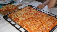 Extra nagy tepsis pizza - Kelesztéssel együtt is csak 35 perc Pizza Recipes, Cake Recipes, Macaroni And Cheese, Sandwiches, Brunch, Food And Drink, Favorite Recipes, Toast, Snacks