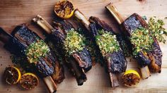 Slow-Cooked Short Ribs with Gremolata Recipe | Bon Appetit don't use bread crumbs for paleo