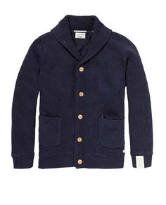 Recycle Denim Cardigan > Mens Clothing > Pullovers at Scotch & Soda