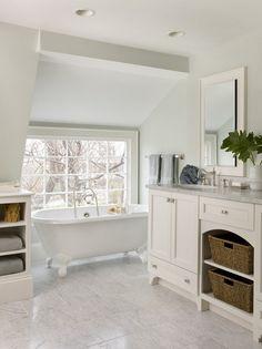 5 Daring Cool Tips: Master Bathroom Remodel half bathroom remodel powder rooms.Half Bathroom Remodel The Doors. Retro Bathrooms, Bathroom Sets, White Bathroom, Attic Bathroom, Small Bathrooms, Bathroom Green, Bathroom Canvas, Wainscoting Bathroom, Bathroom Beach