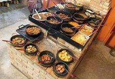 Comida mineira no fogão à lenha - Brazilian food from Minas cooked on a wood stove