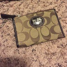 Authentic coach change/wallet Coach chain/ card holder Coach Bags Wallets