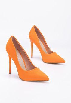 Pantofi stiletto Elama V2 Portocalii