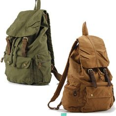 Lage Canvas Backpack Back to School Bag MUST HAVE Men Military