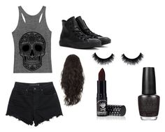 """""""Untitled #8"""" by alexiacasa on Polyvore featuring T By Alexander Wang, Converse, Manic Panic and OPI"""