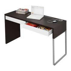 MICKE  Desk, black-brown, white  $69.00  Behind the sofa or in the guest room?