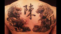 Incredible Fu Dogs Artist: Wang of Tattoo Temple Foo Dog Tattoo, Lion Tattoo, Dog Tattoos, Tiger Tattoo, Tattoo Ink, Hand Tattoos, Sleeve Tattoos, Modern Tattoos, Trendy Tattoos