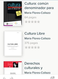 Publicaciones de María Flores Collazo sobre Gestión Cultural https://www.scribd.com/mobile/users/maria_flores_collazo/collections/3798215