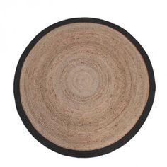 Label 51 vloerkleed 'Jute' 180 cm, kleur Zwart