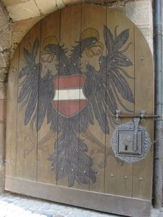 Door at the Imperial Castle, Nuremberg, Germany