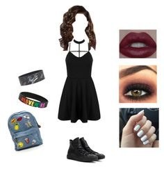 """""""Untitled #102"""" by kennyleeann ❤ liked on Polyvore featuring WithChic, Converse and Coleman"""