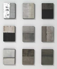 A great way to spruce up your home with design - concrete finishes as artwork for your wall!