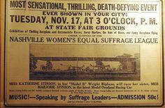 Nashville, Tennessee, suffrage fundraiser   1914.