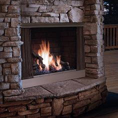 Kingsman Zero-Clearance Outdoor Fireplace - Stainless Steel #LearnShopEnjoy