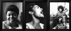 Check out these beautiful posters of iconic Black women! These black and white prints will add th...