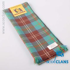 Chisholm Hunting Tartan Scarf. Free worldwide shipping available