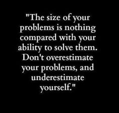 Don't underestimate yourself