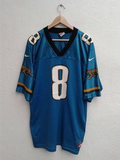 6c9f06fb 15% SPRING SALE Vintage 90s Nike Mark Brunell 8 NFL Jacksonville Jaguars  Football Jersey Size L