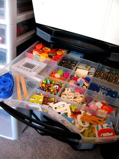 IHeart Organizing: You Asked: Controling Craft Chaos Found at Joann fabrics Scrapbook supplies.
