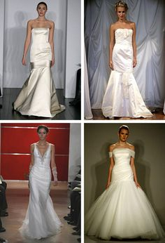 Bottom right is nice but needs to be blinged out. ~mermaid style wedding dresses