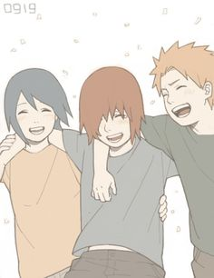 """""""That was awesome, dude!!"""" """"Yeah, thanks for taking me- I mean, us, Nagato!!"""" """"No problem Konan. Yahiko. You guys are my friends!"""" """"BEST-friends!!"""" """"Yeah, I agree, Yahiko!!"""" Konan, thinking: I wish Nagato and I could be more than best-friends* """"Let's go home and PARTEH!!"""" """"Yeah!!"""" """"Alright!"""" Nagato, thinking: I hope our friendship will never end.... And I could confess my love to Konan*"""