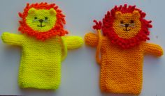 Lionel and Leo - patterns coming soon! Knitting Toys, Loom Knitting, Crochet Toys, Baby Knitting, Free Crochet, Knit Crochet, Knitting Patterns, Crochet Patterns, Glove Puppets