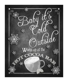 Here is the perfect sign to display on your Cocoa Bar! We offer a full line of coordinating signs in this design so please check out our other